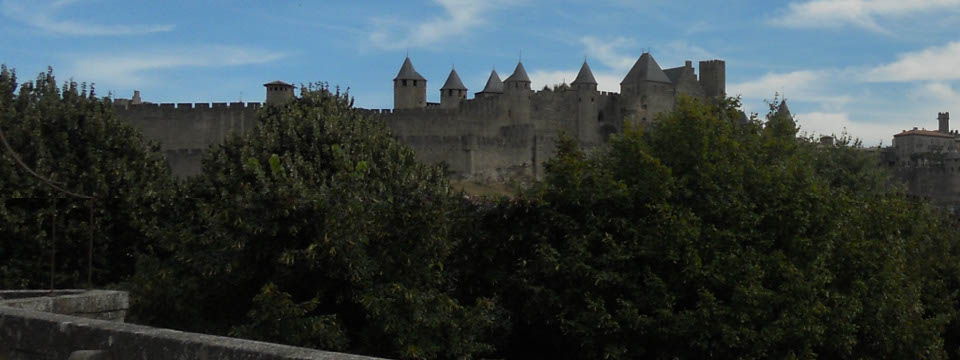The impressive medieval town of Carcassonne